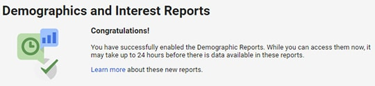 demographics and interest reporting success