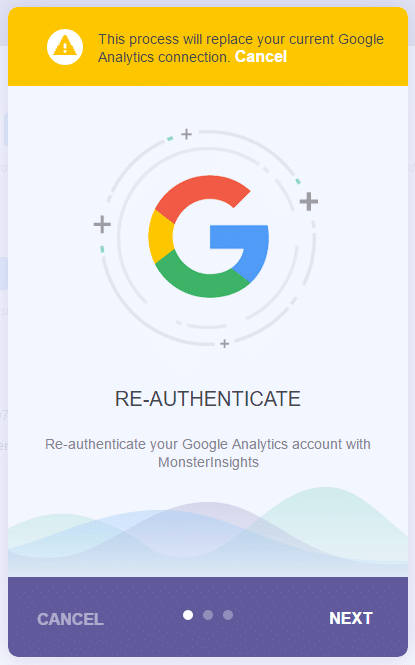 follow the steps to re-authenticate