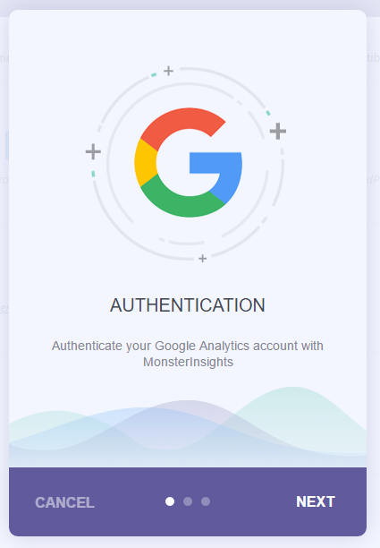 Start the Google Authentication process