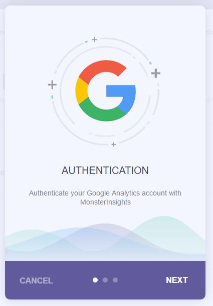 Start the Google Authentication process