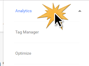 Click Analytics to sign in