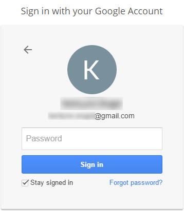 Enter your password to sign in to Google Analytics