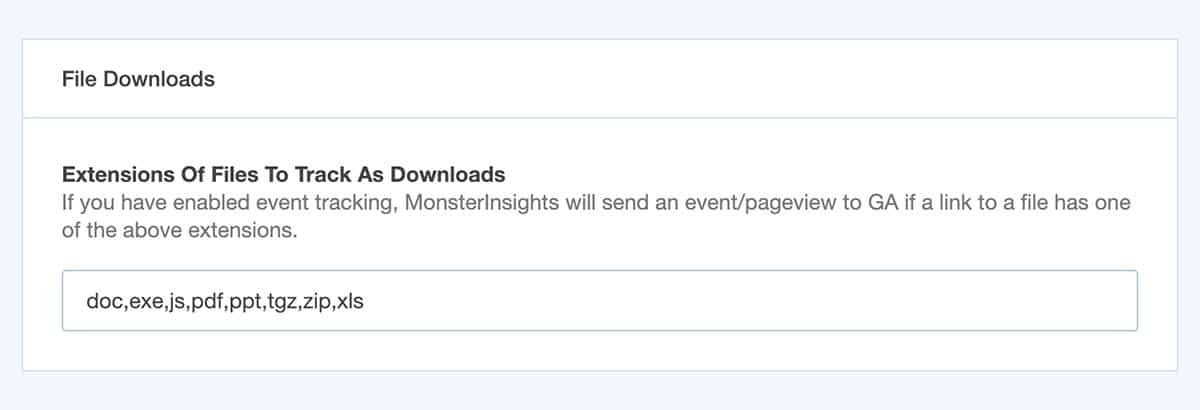 File Download Tracking - MonsterInsights