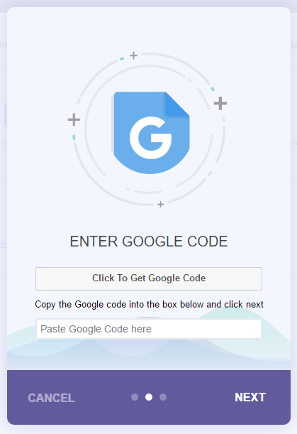 Click to get your Google Analytics code