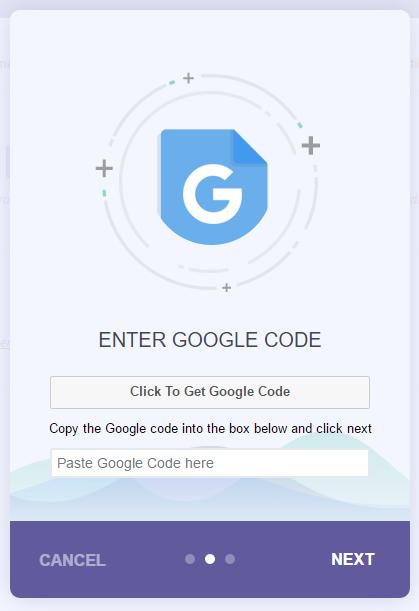 Click to get your Google Analytics code