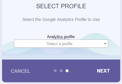Select your Google Analytics profile