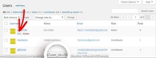 hover to see user ID