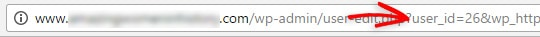 find user ID in the URL