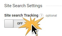 turn on site search tracking in google analytics