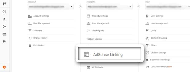click adsense linking