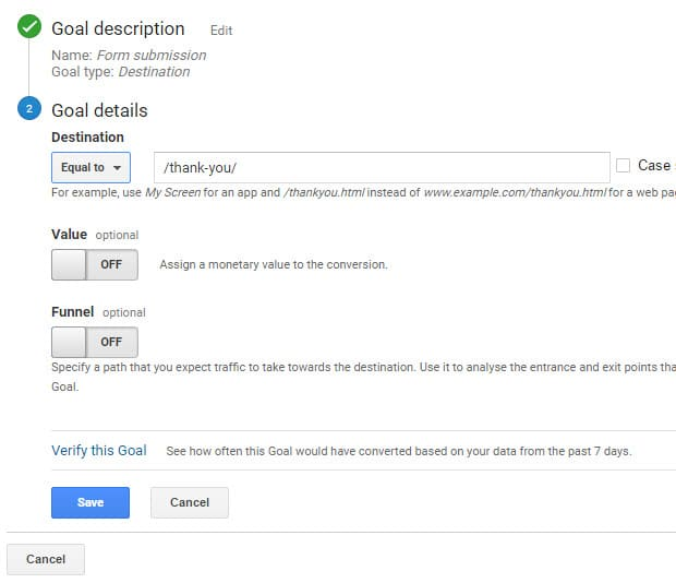 how to create funnel in google analytics