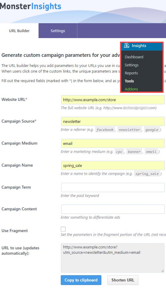 minimize false direct traffic allocation using campaign url builder