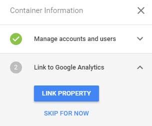 click link property