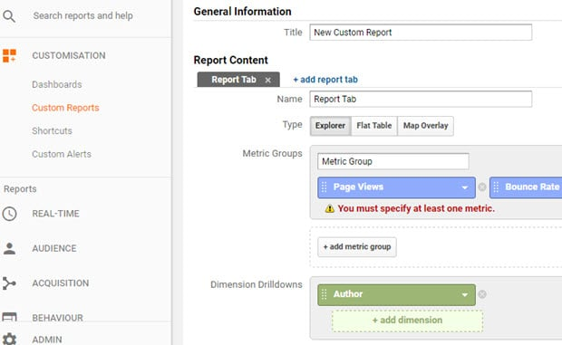 How To Search By Author In Google Analytics (The Easy Way)