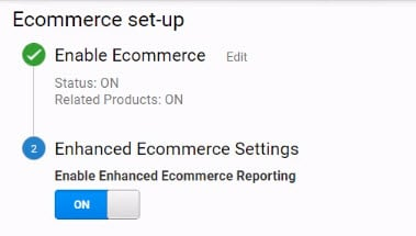 enable enhanced ecommerce