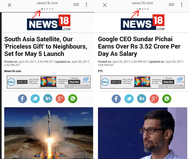 google amp pages in news carousel