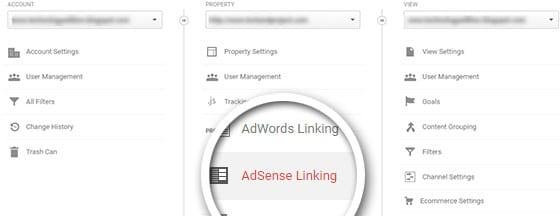 adsense linking