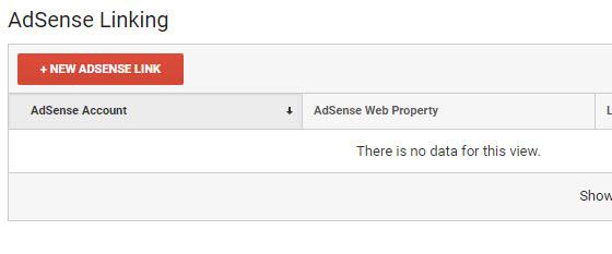 click new adsense link