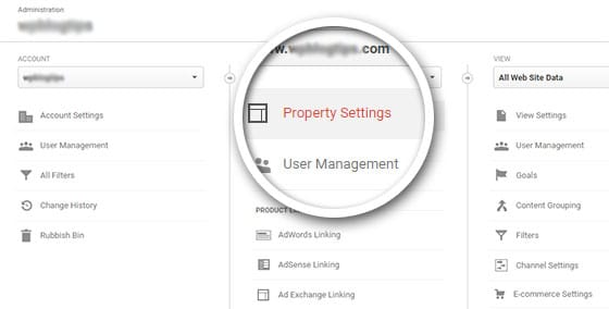 click-property-settings
