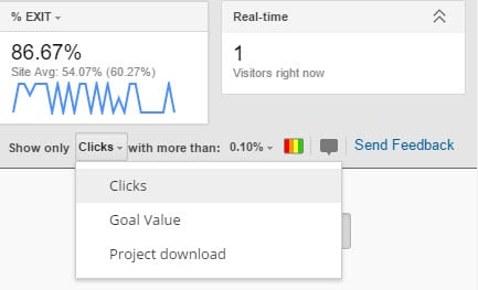 clicks inpage analytics
