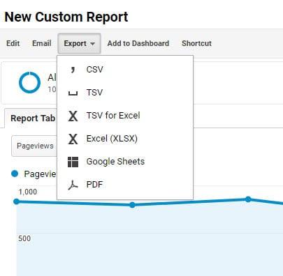 export custom report