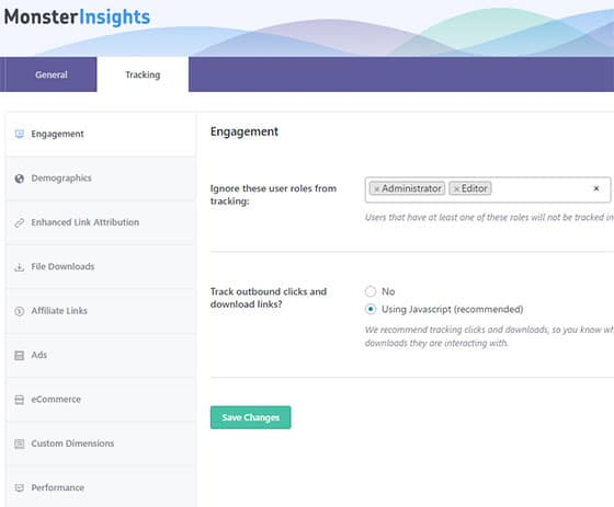 monsterinsights features