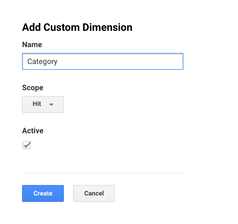 Category Custom Dimensions