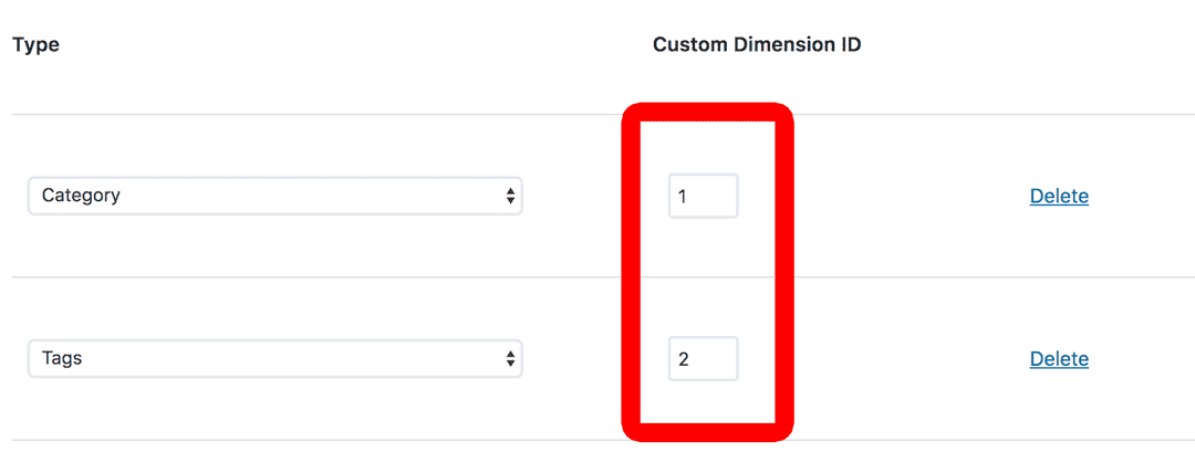 Category Tags Custom Dimensions Easy Setup in WordPress