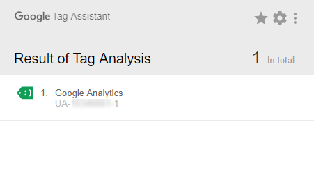 tracking id google tag assistant