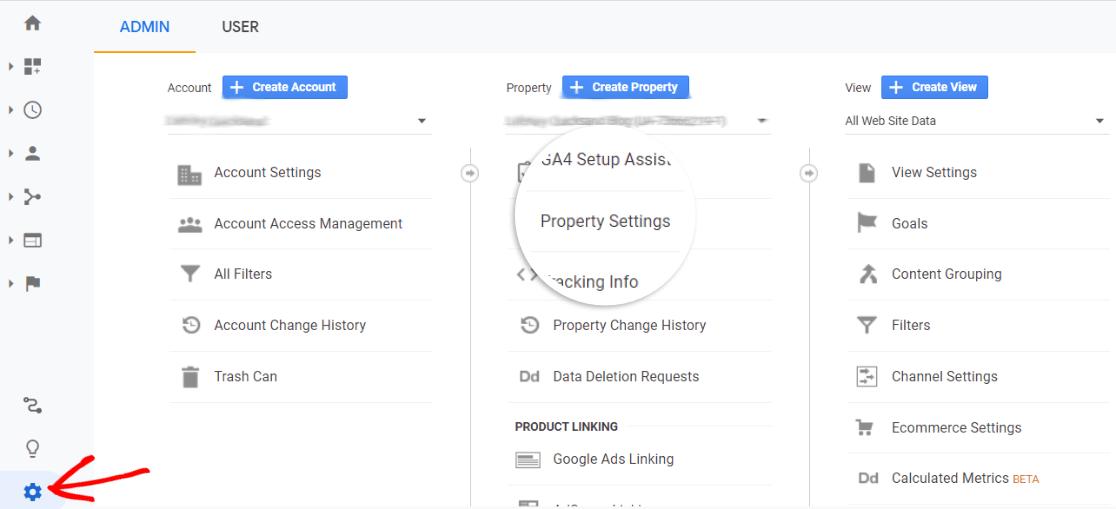 Property Settings in Google Analytics
