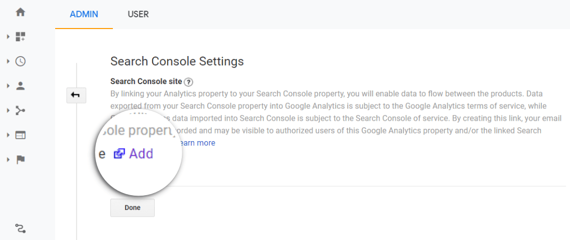 Add a site in Search Console and Google Analytics