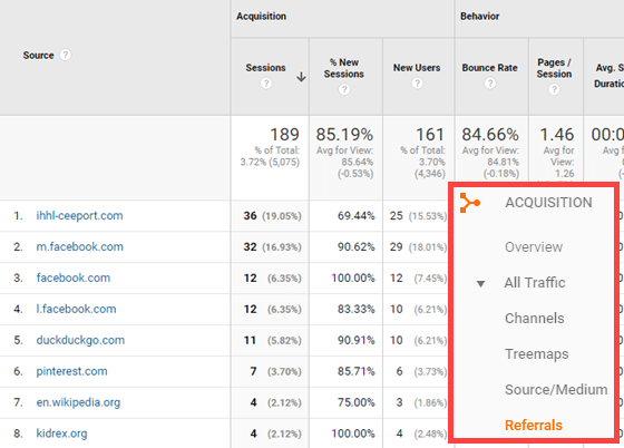 monitor referral traffic report for link opportunities