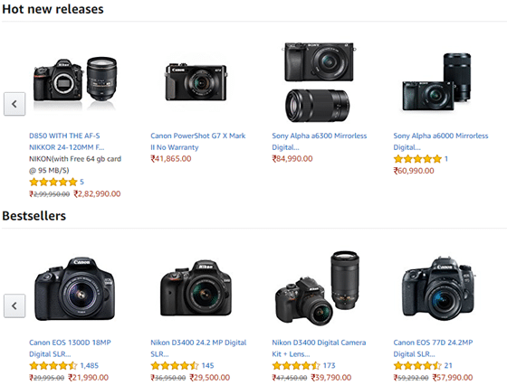 best practices for product category pages - include best sellers and hot new releases