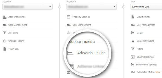 how to link adwords with analytics