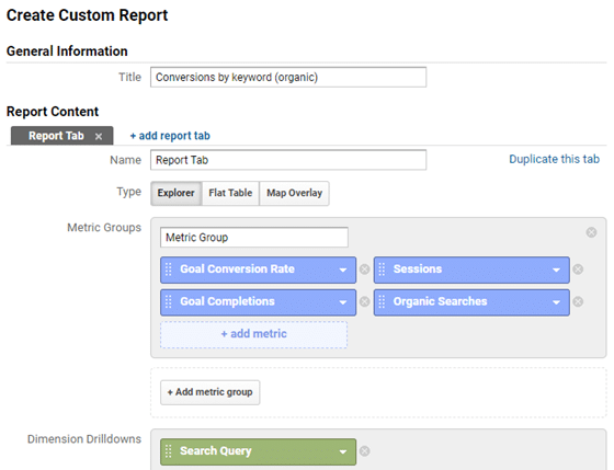 how to track organic keyword conversions