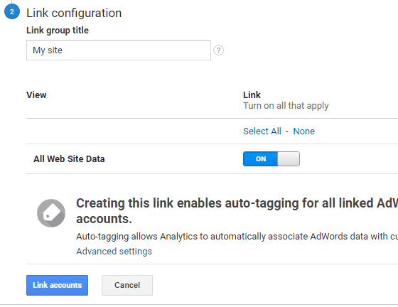 linking adwords with analytics