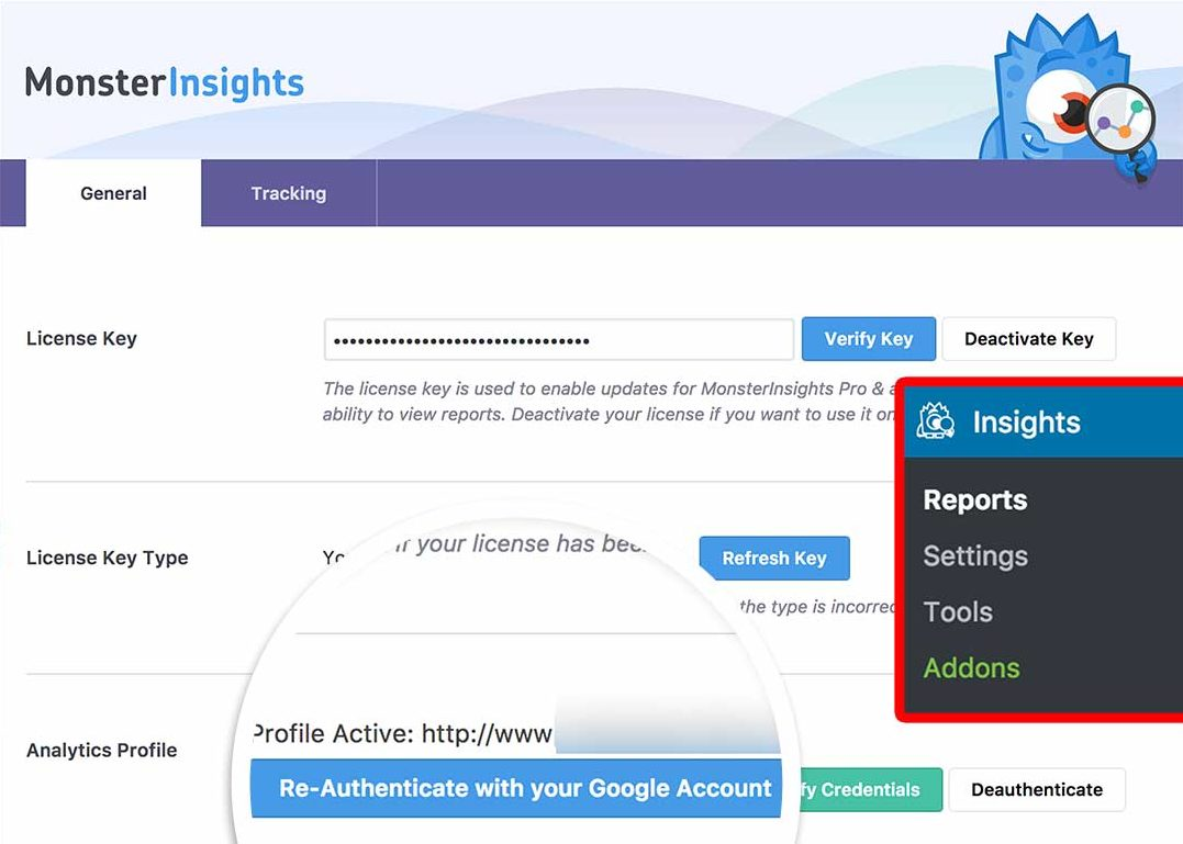 Reauthenticate With Google Analytics