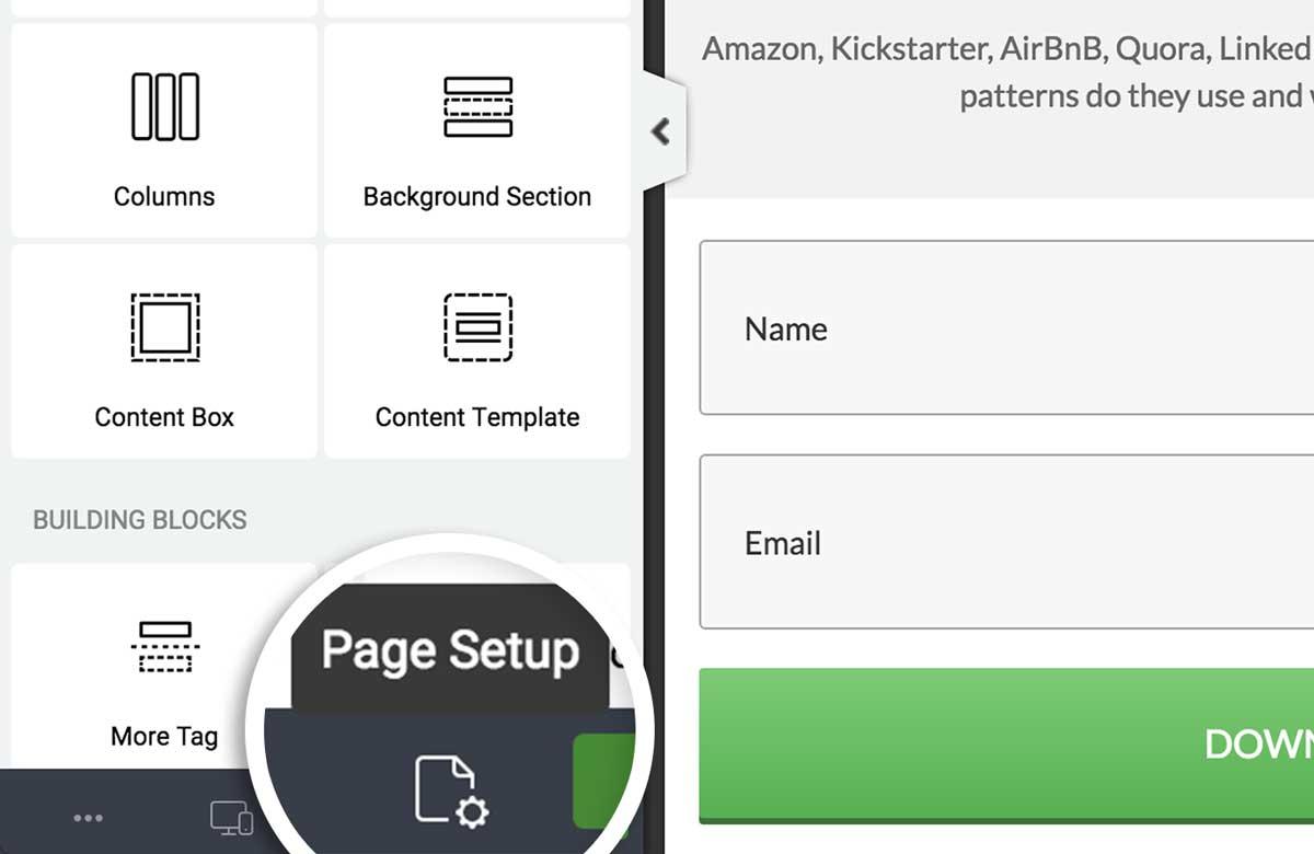 Step 2. Click Page Setup