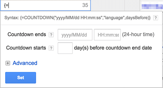 adwords countdown timer