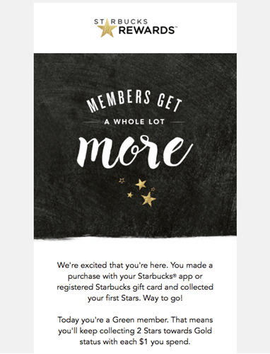 starbucks email best practices example