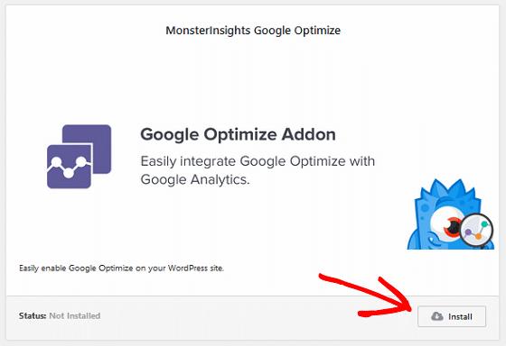 A/B Test Signup Forms - Google Optimize Addon