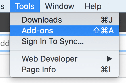 Disable Add-ons in Firefox