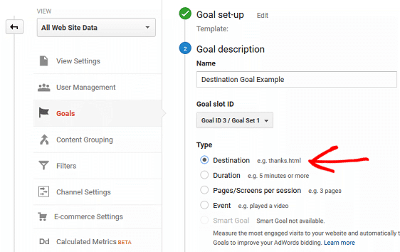 4 types of goals in google analytics that are critical to your business
