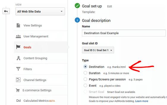 Types of Goals in GA - Destination Goal.1