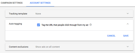 Using GA with AdWords - AdWords Setting, Enable Auto-Tagging