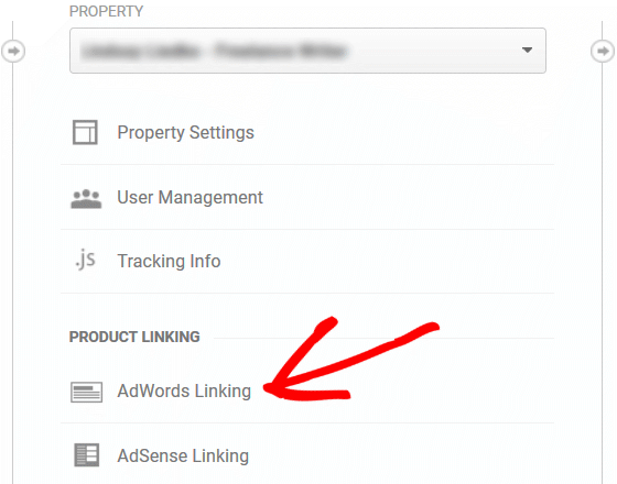 Using GA with AdWords - Property, AdWords, Linking