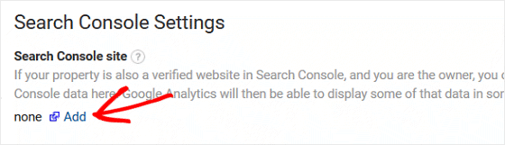 Add Site to Search Console