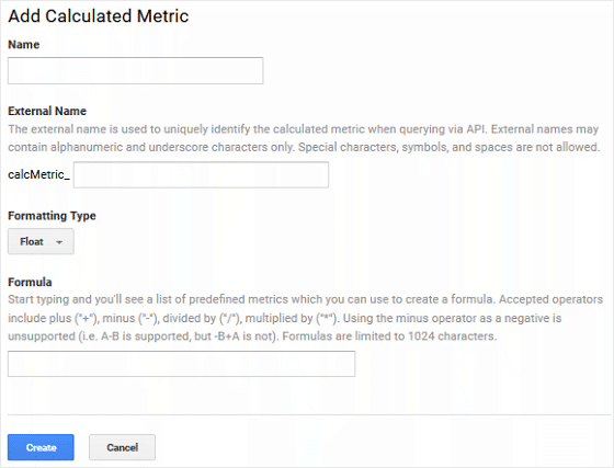 Calculated Metric Attributes