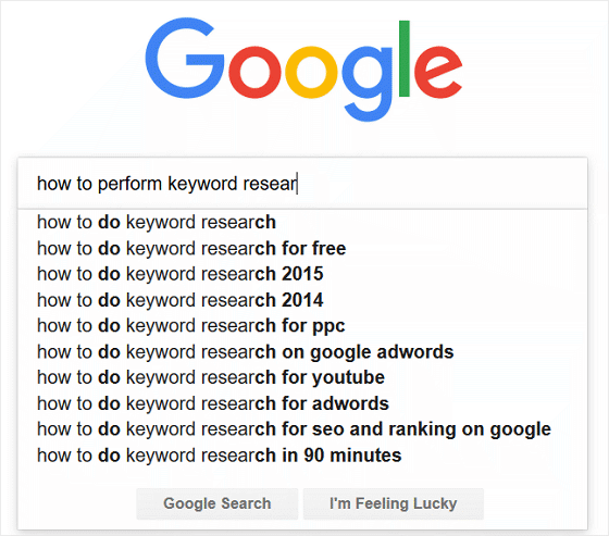 Google Search Bar Search