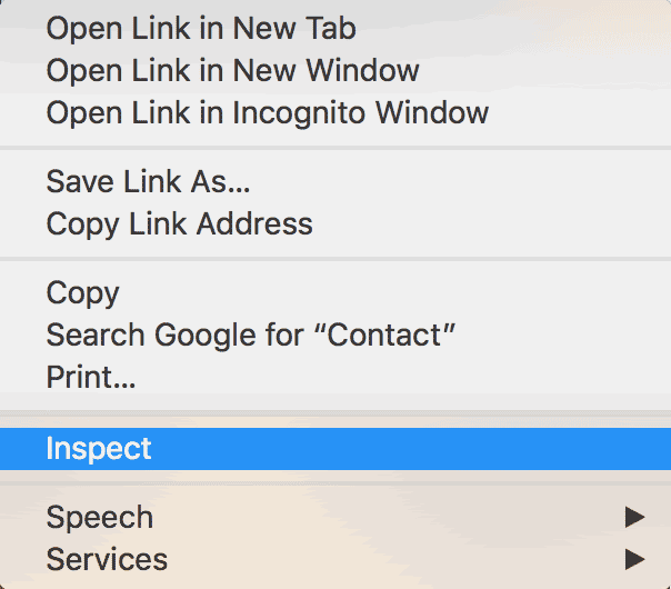 Inspect element Google Chrome